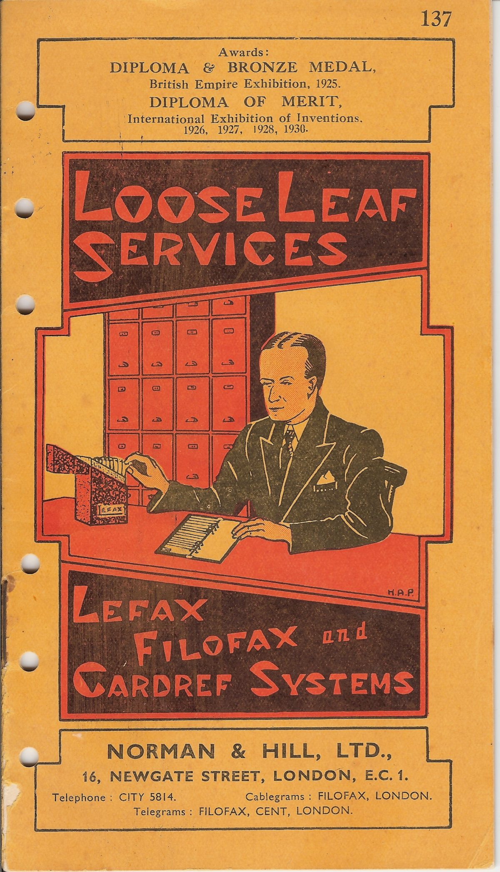 Lefax Filofax 1937