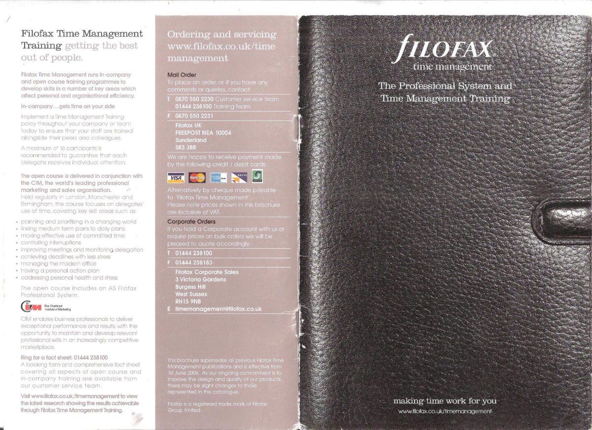 Time management catalogue2006/7
