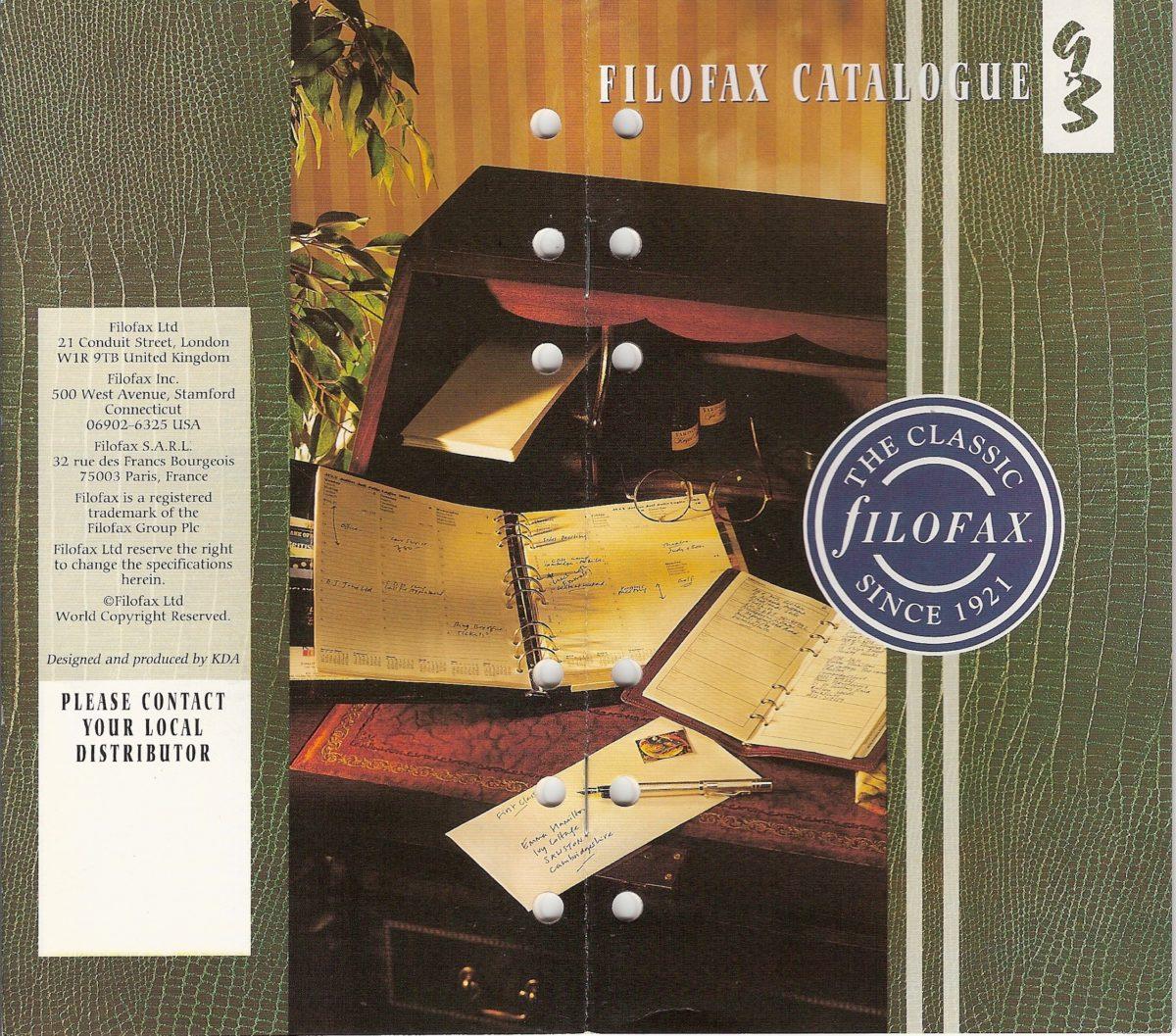 Filofax UK Full Catalogue1993