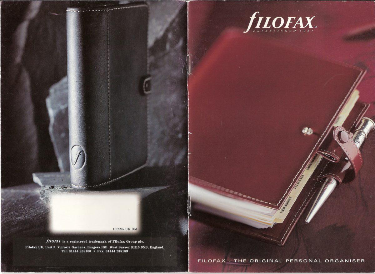 Filofax UK Full Catalogue1999