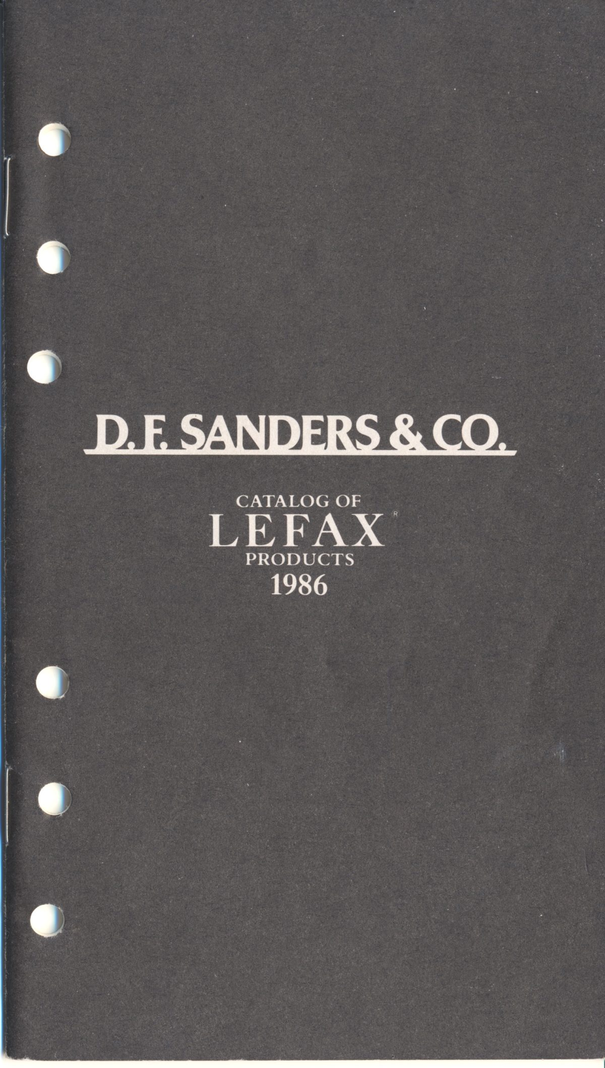 D.F. Sanders & Co – Lefax 1986
